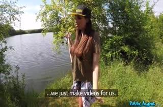 Частное порно от первого лица с Anissa Kate на природе