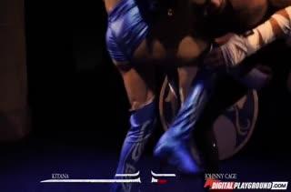 Развратная порно пародия на Mortal Kombat с Aria Alexander